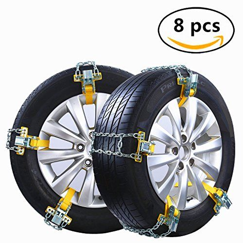 General Motors Easy To Install Metal Snow Tire Chain 8 Sets Automatic Safety Snow Chain Suitable For Cars Tire Width 20 Snow Chains Car Tires Car Accessories