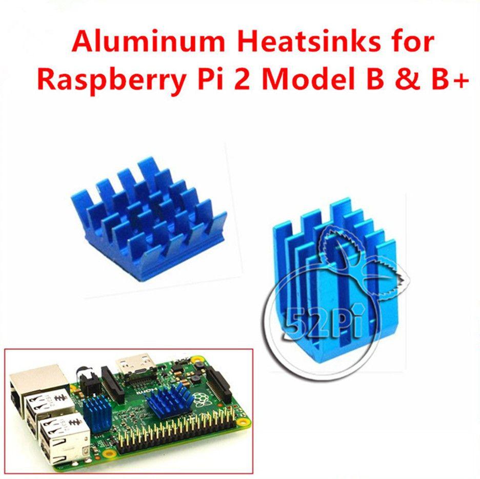 Adhesive Aluminum Heatsinks Cooling Kit 20 Pcs Raspberry Pi 2 B B