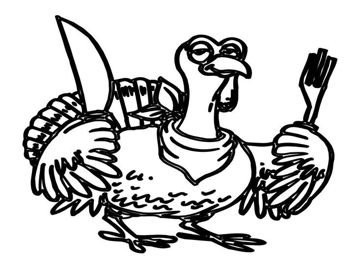 Free Turkey Coloring Pages For Kindergarten : Print a free turkey coloring page for the kids to color free
