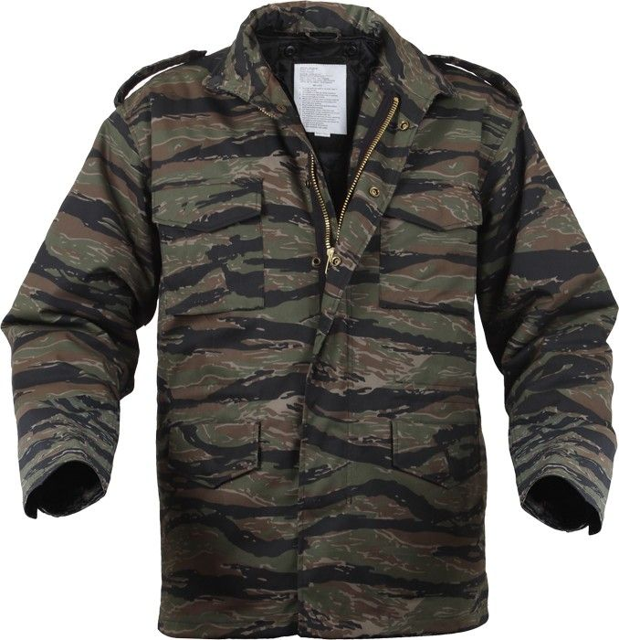 f7c2fd907d27f Tiger Stripe Camouflage Military M-65 Field Jacket