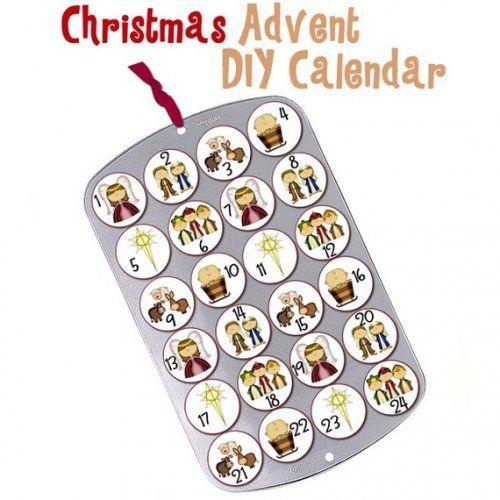 Christmas Cupcake Muffin Tin Advent Calendar Nativity Baby Jesus