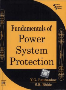 Fundamentals Of Power System Protection By Paithankar Pdf Projects