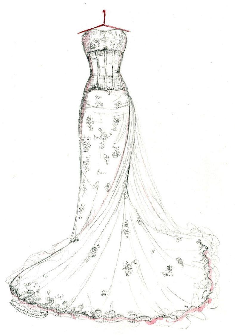 2016 Wedding Dresses : Anne Hathaway Bridal Gown Sketches Celeb ...