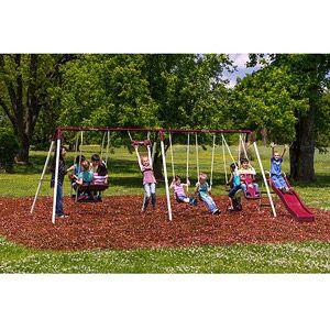Flexible Flyer Brantford Ii Metal Swing Set Metal Swing