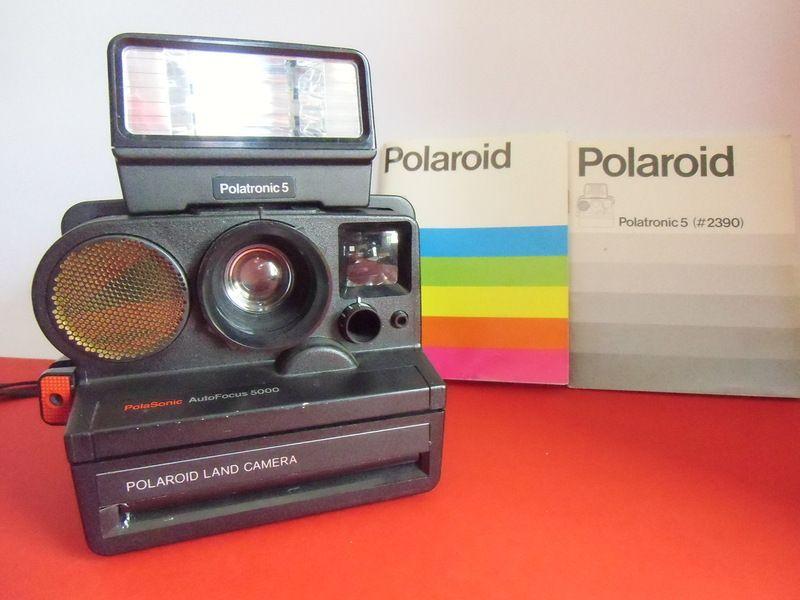 Polaroid 5000 Sonar AF mit Blitz Polatronic 5 von susduett auf DaWanda.com