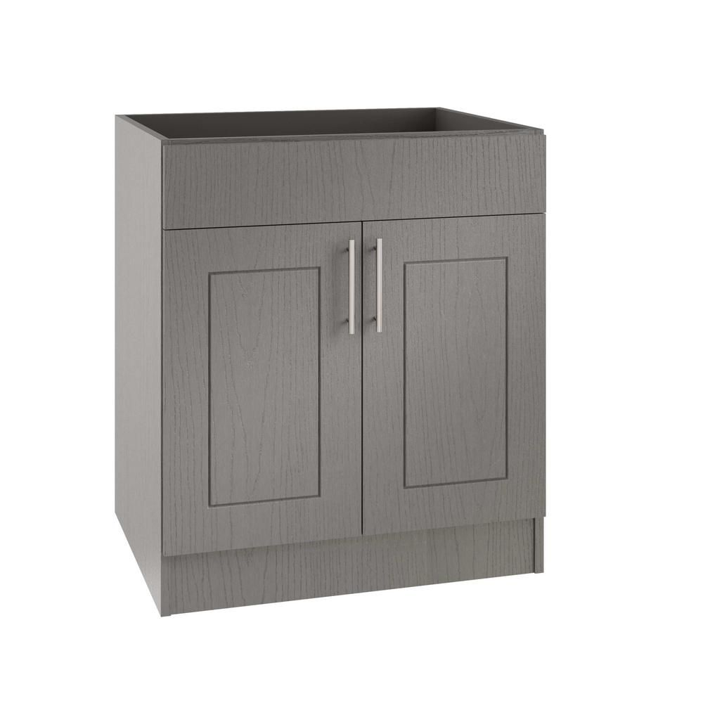 Weatherstrong Assembled 24x34 5x24 In Palm Beach Island Sink Outdoor Kitchen Base Cabinet With 2 Doors In Rustic Gray Kitchen Base Cabinets Sink In Island Base Cabinets