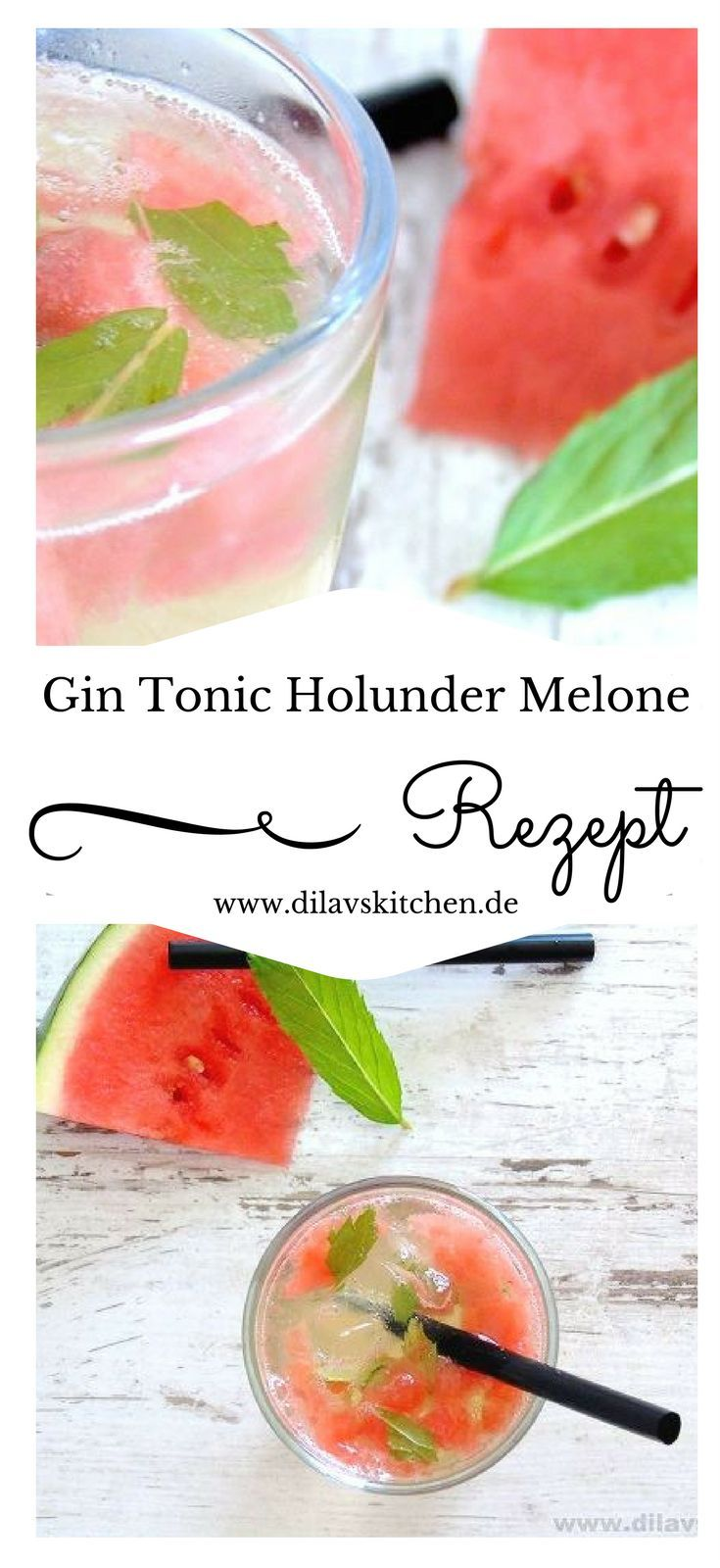 Photo of Elderberry-GinTonic with melon & mint