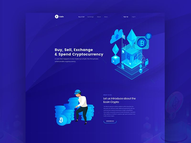 Ico Cryptocurrency Landing Page Cryptocurrency Ico Landing Page