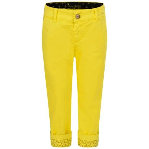 Billionaire Boys Yellow Cotton Turn Up Trousers