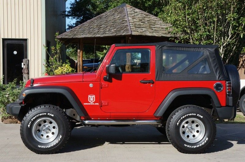 2008 Flame Red Jeep Wrangler X Automatic Soft Top 3 Lift