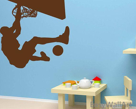 playing basketball wall decal michael jordan vinyl wall art rh pinterest com