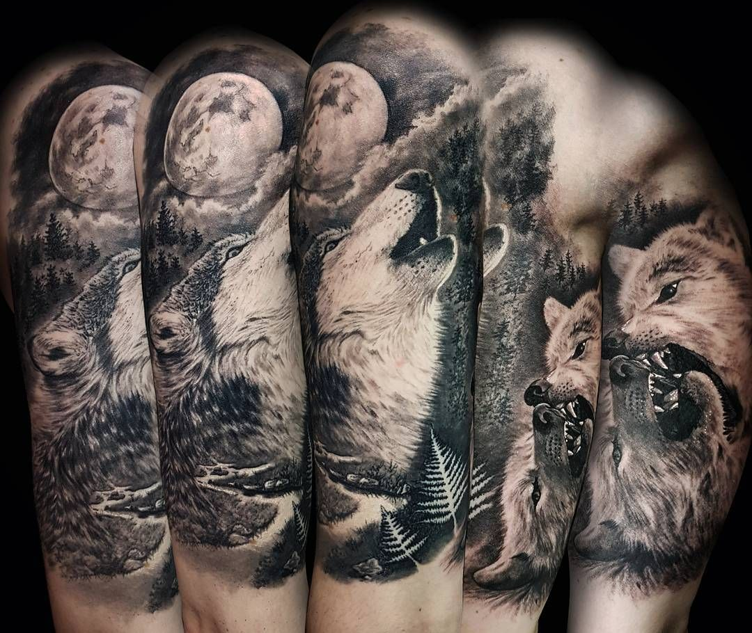bd87fb427 Pin by Dominique Arleane on tattoos ** upper body. | Wolf tattoo ...