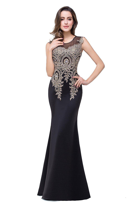 MisShow Women\'s Rhinestone Long Lace Formal Mermaid Evening Prom ...