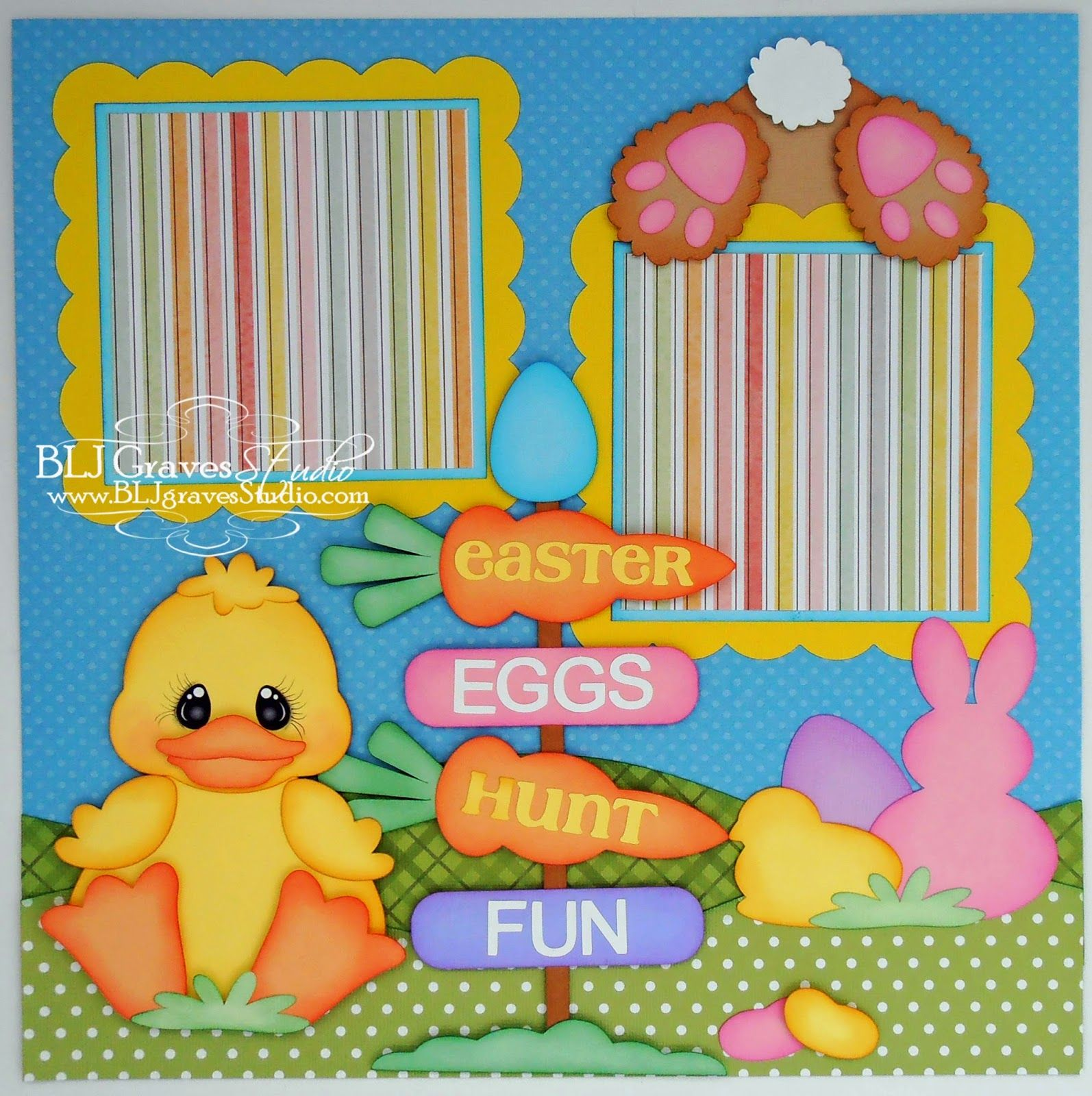 Easter Bunny Scrapbook Pages