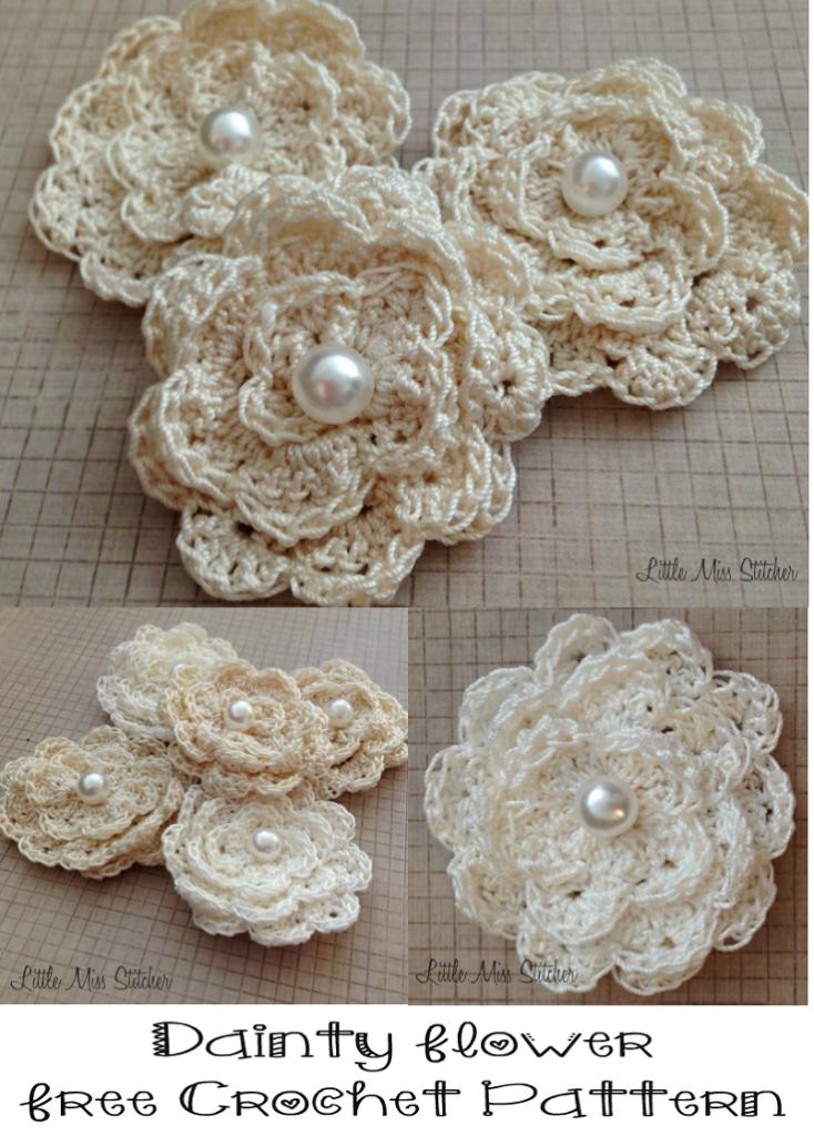 Dainty Diy Crochet Flowers Free Pattern Crochet Pinterest