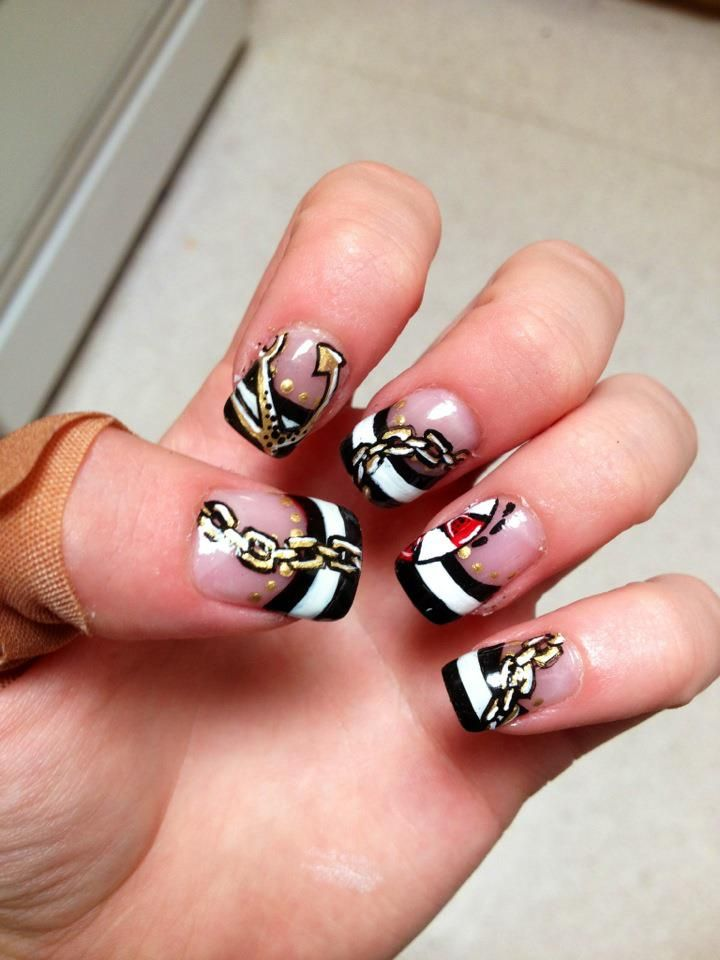 anchor nails by ~ashleyzettel on deviantART just like the triple ...