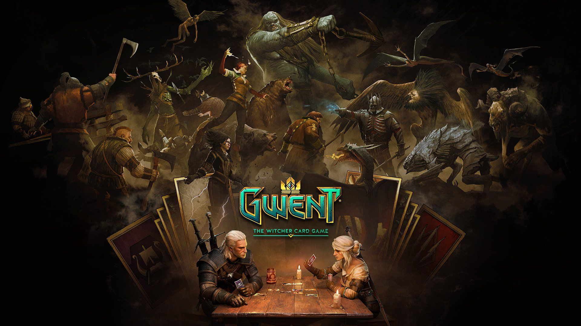 Witcher Card Game Spinoff Gwent Heading To Smartphones This Year The Witcher Card Games Keys Art