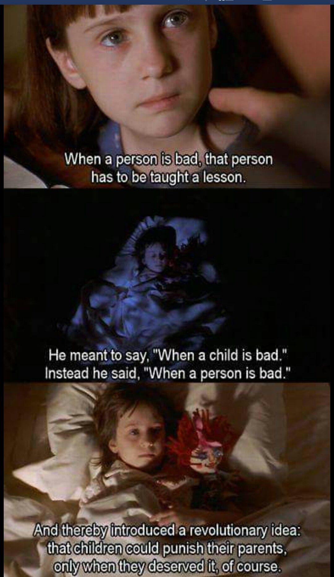 matilda the movie and child abuse The surreal plot emerged from bedtime stories dahl told to daughters tessa and  olivia  matilda: the leading lady (pictured above in the 1996 film version)   when adults see child abuse in matilda they think of baby p but.