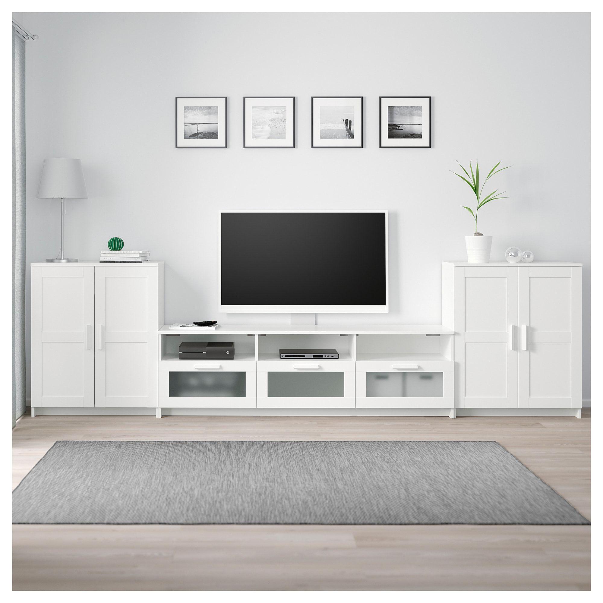 Brimnes Tv Storage Combination White 132 1 4x16 1 8x37 3 8