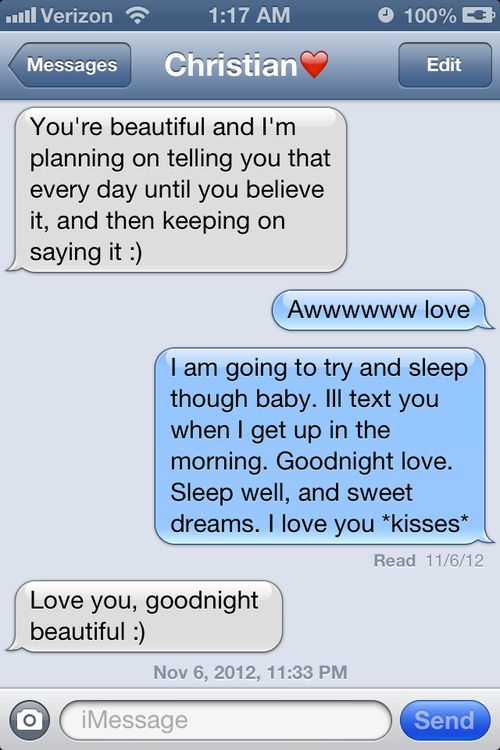 Cute Goodnight Text Messages To Send To Your Girlfriend