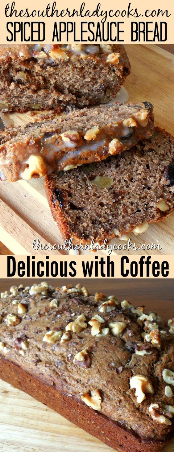 Spiced applesauce bread is delicious with your morning