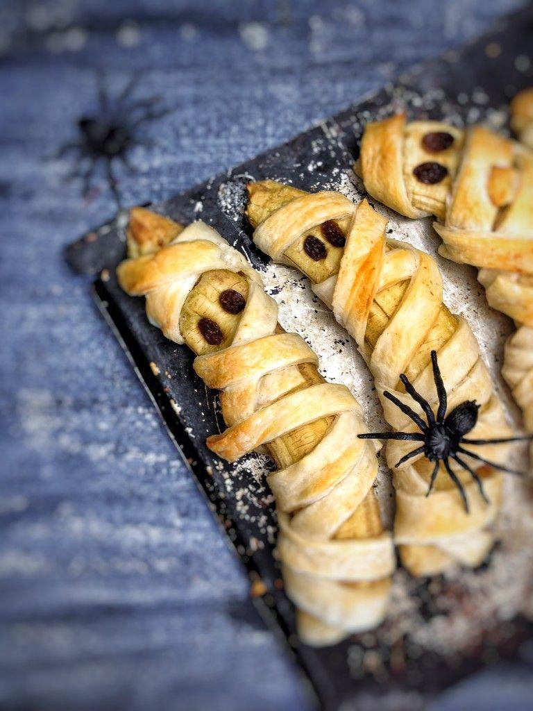 Mummied Bananas Recipe Vegan Halloween Food Vegan Halloween Treat Halloween Food Appetizers
