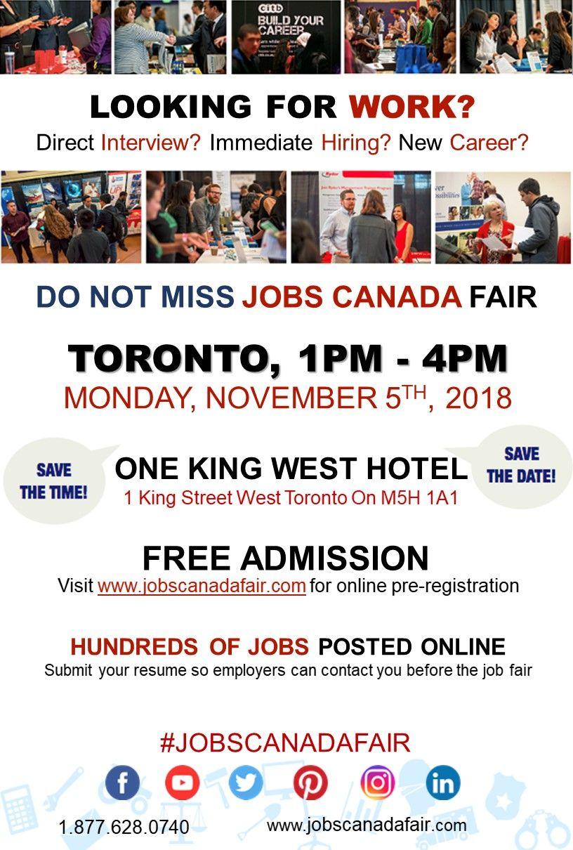 Looking for a job? Immediate hiring? Toronto Job Fair