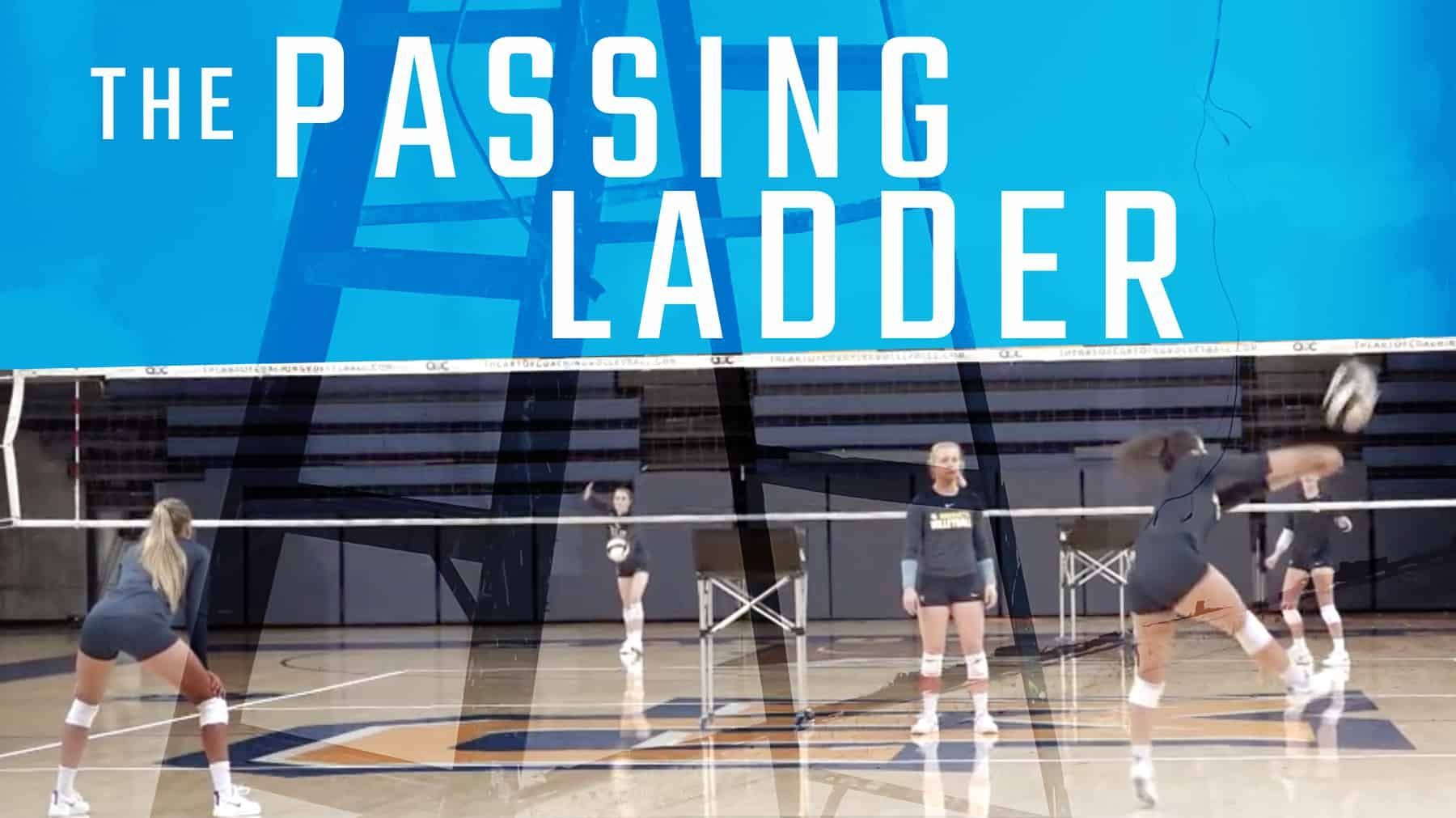 The Passing Ladder Coaching Volleyball Volleyball Drills Volleyball Training