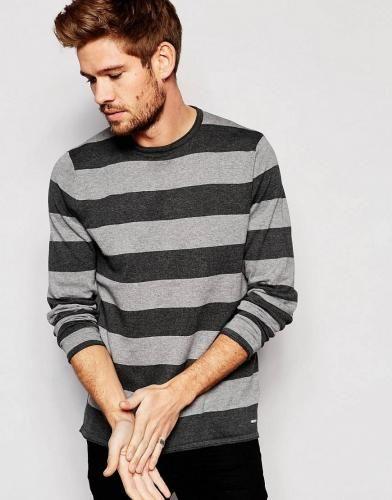 #Esprit maglia a righe a maniche lunghegrigio  ad Euro 29.99 in #Esprit #Maglieria uomo