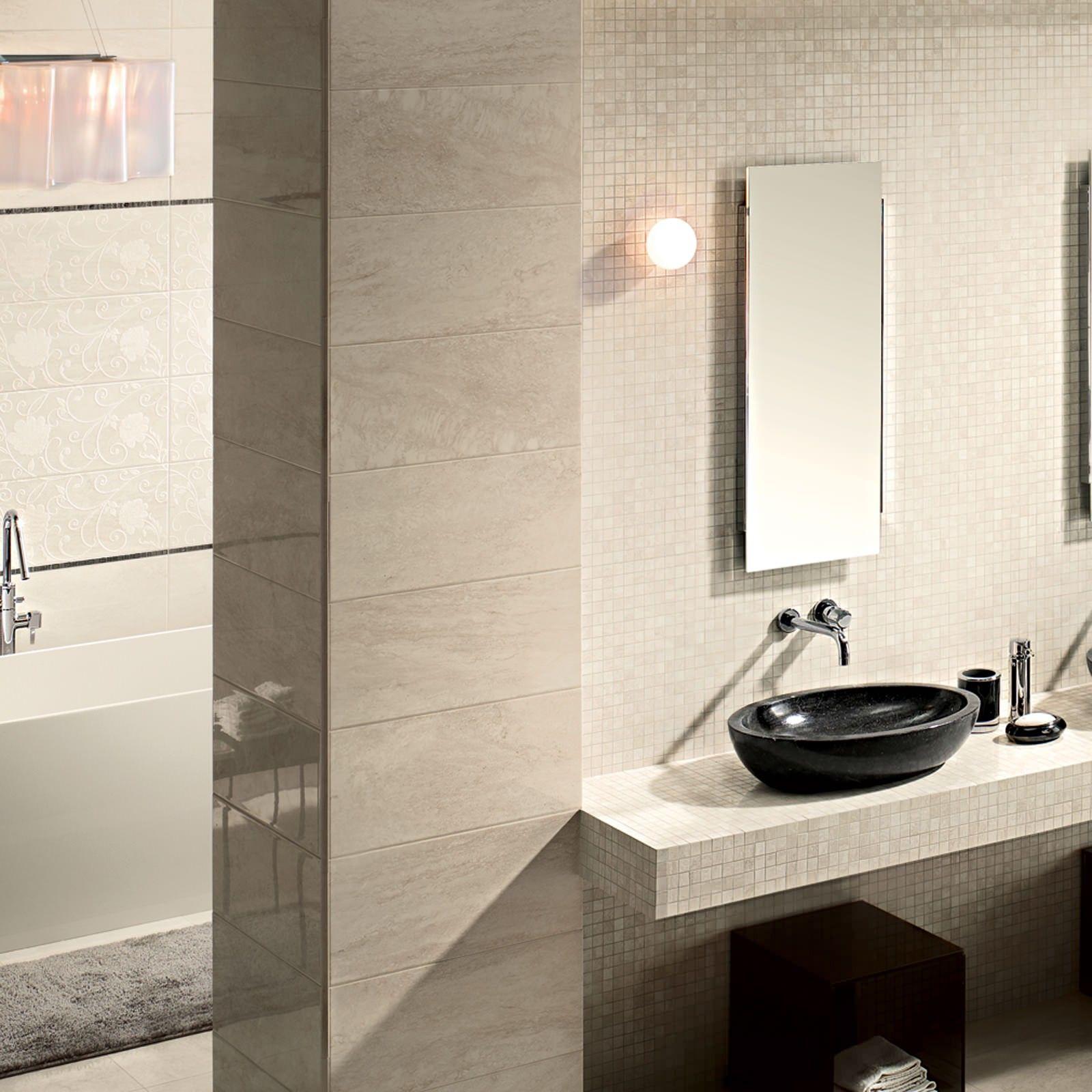 Marmo D Bianco Travertine Effect Wall Tile