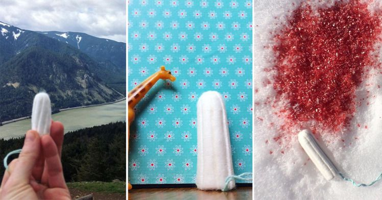 Tampons in Beautiful Places: The Instagram account using