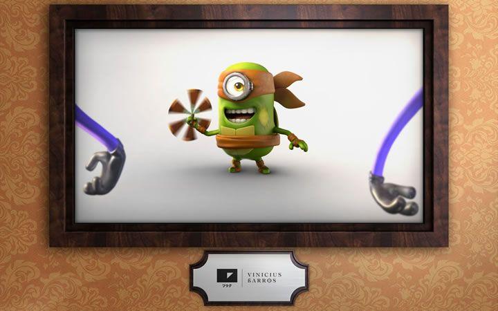 Parodies 3d minions 45 50 parodies des personnages des - Mechant tortue ninja ...