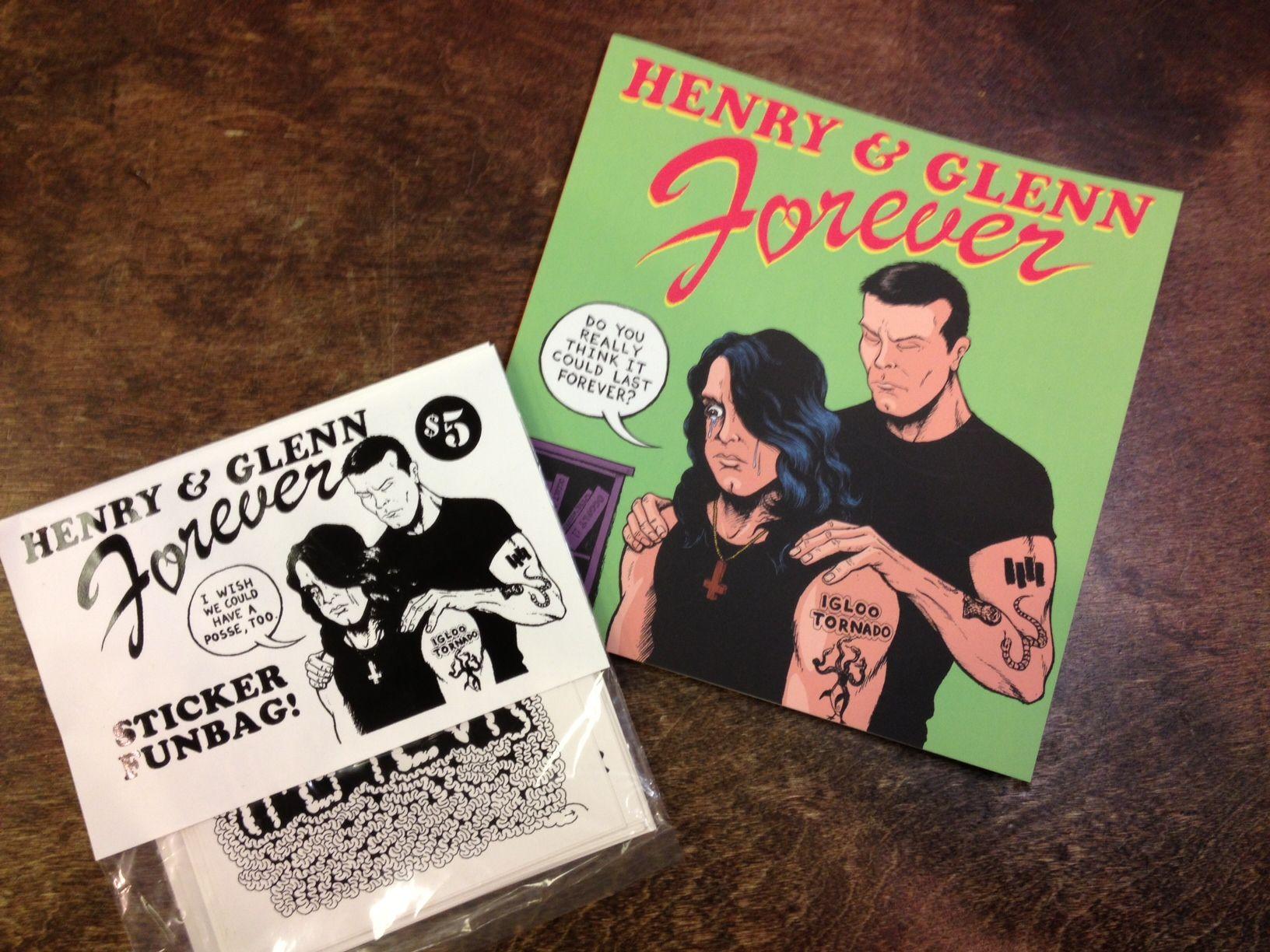 Henry Rollins & Glenn Danzig Forever Book & Sticker Pack #blackflag #misfits #henryrollins #glenndanzig #truelove