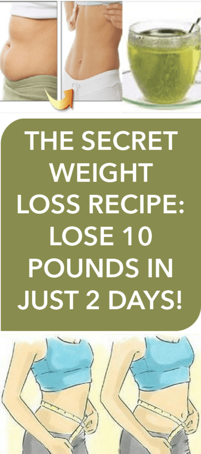 Secret Weight Loss Recipe: Lose 10 Pounds In Just 2 Days!!!  #wieghtloss  #homeremedies