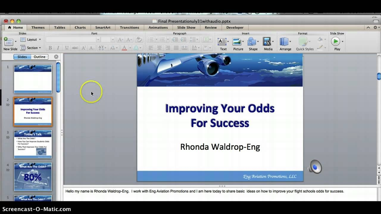How to use screencastomatic with powerpoint with images