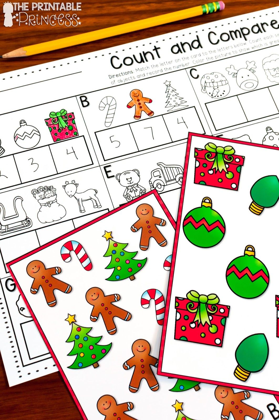 Christmas Literacy And Math Activities For Kindergarten