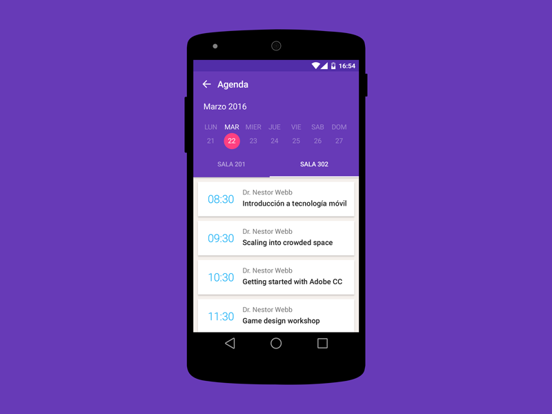 Schedule Event App For Android  Material Design Ui