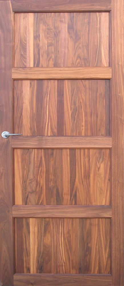 Alvö walnut, is an interior door with a solid walnut frame (not to
