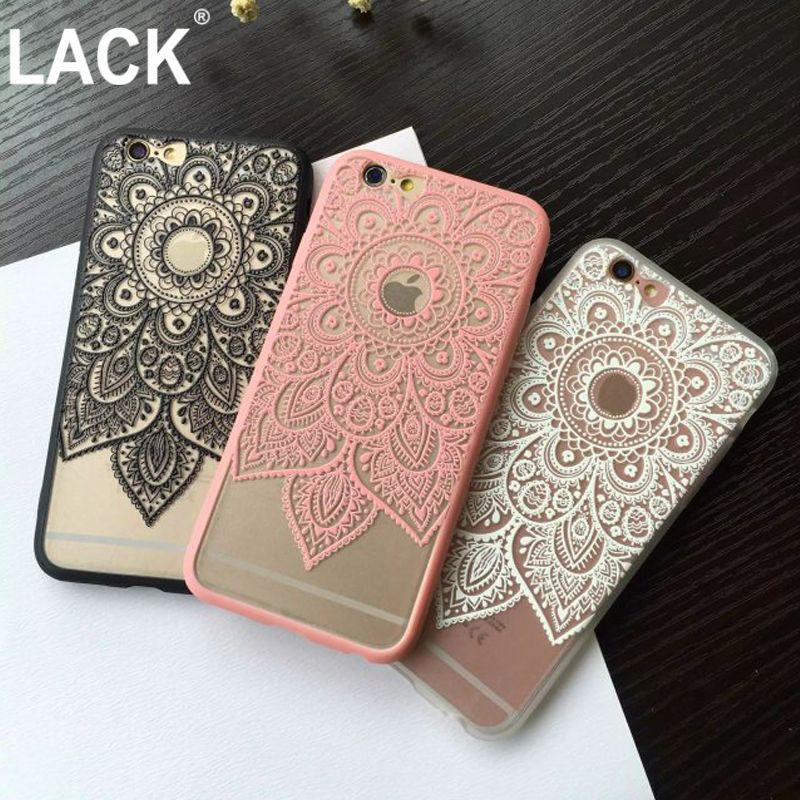 0a9a6ea5608 Sexy Beautiful Datura Floral Phone Cases For iPhone 6S 6 Plus Classic Lace  Mandala Flower Fundas