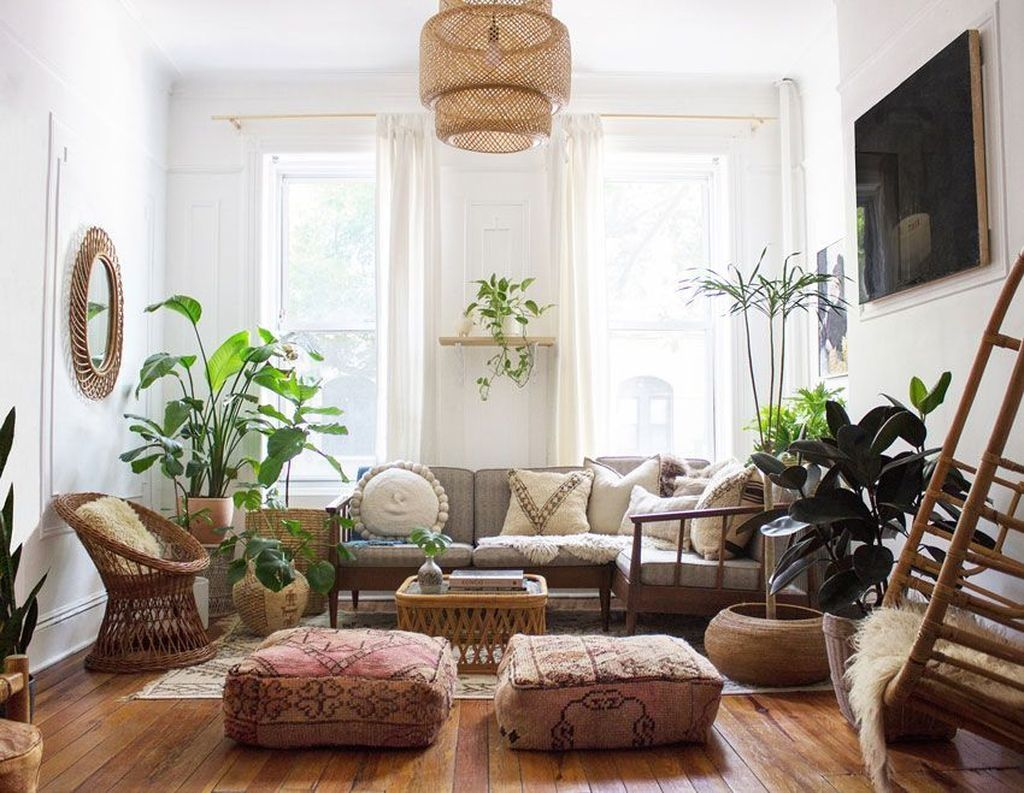 50 Romantic Bohemian Style Living Room Design Ideas | Patterns
