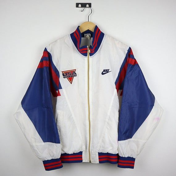 Nike Vintage 90s NIKE USA TEAM Windbreaker Vintage Jacket