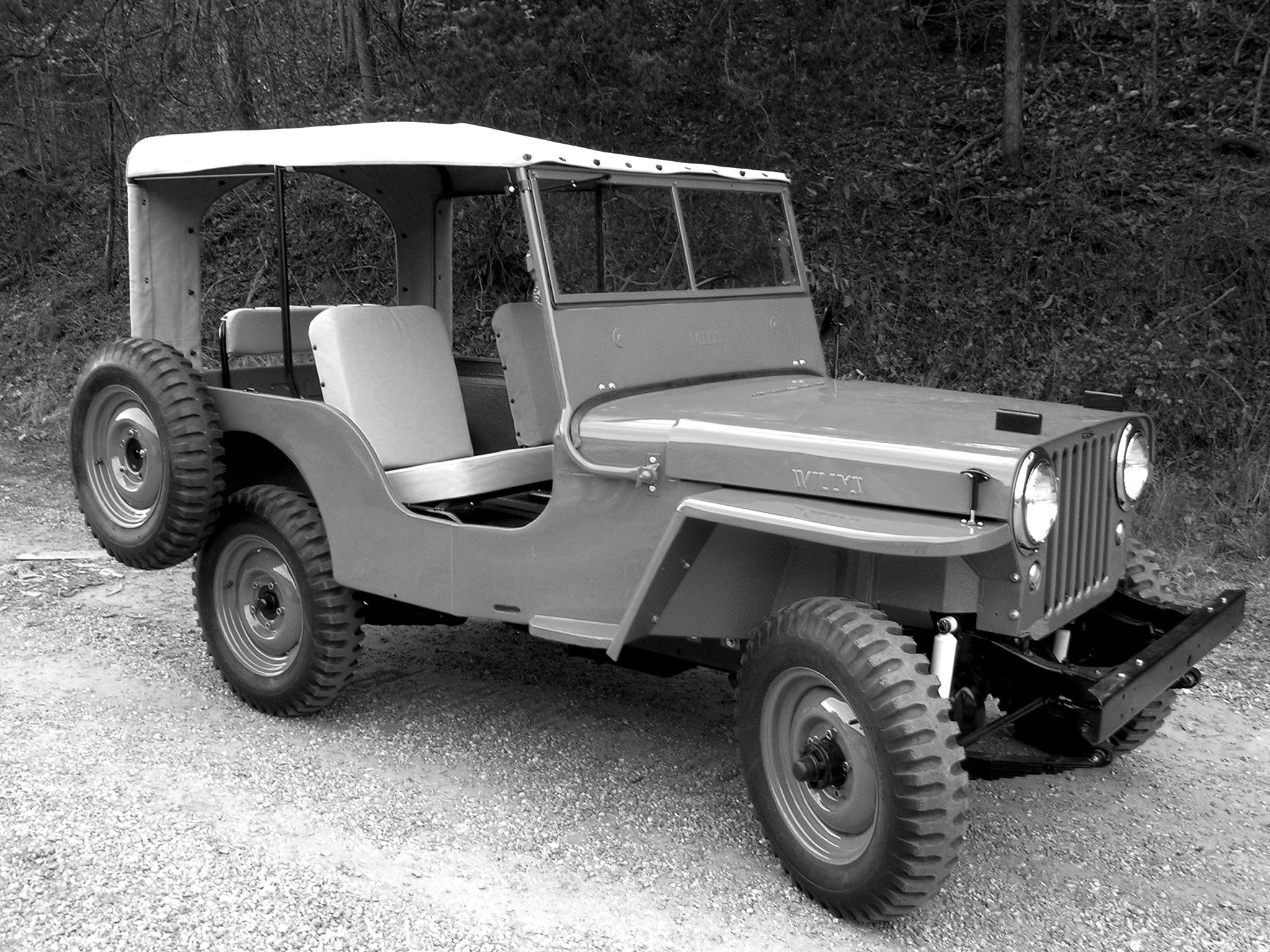 Willys Overland Jeep Cj 2a Love The Side Spare Tire Jeep Cj2a