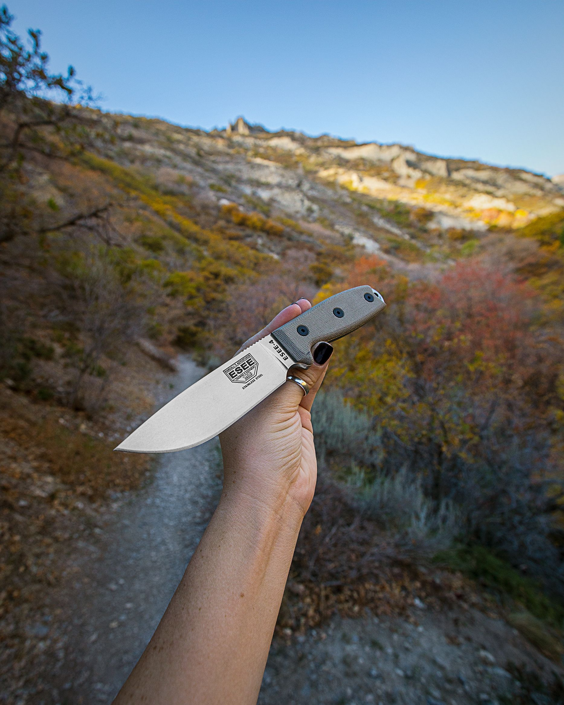 The ESEE-4P-MB-SS Fixed Blade Knife | Fixed Blades | Fixed blade