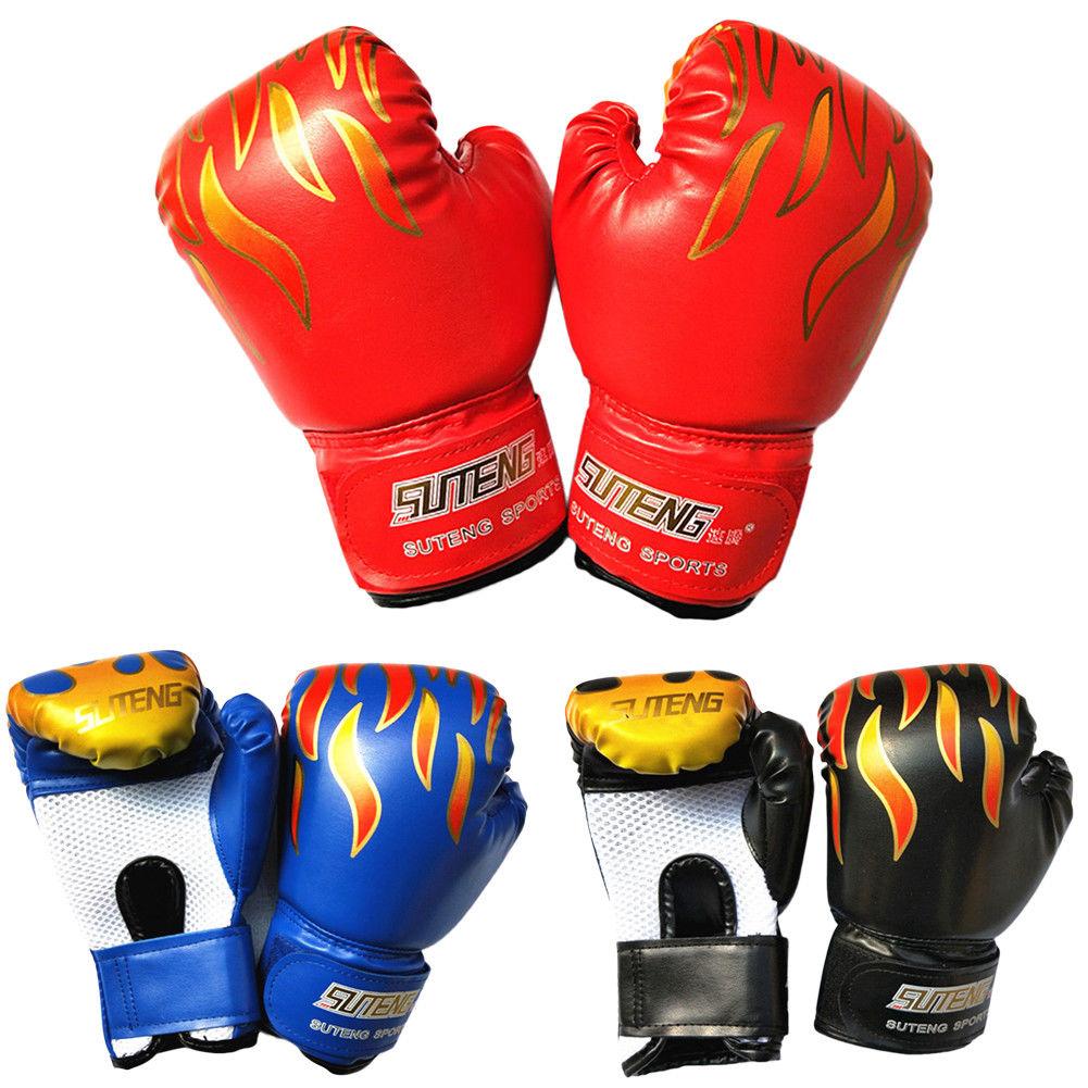 Boxing Gloves Men PU Leather MMA UFC Sanda May Thai Combat Fighting Training