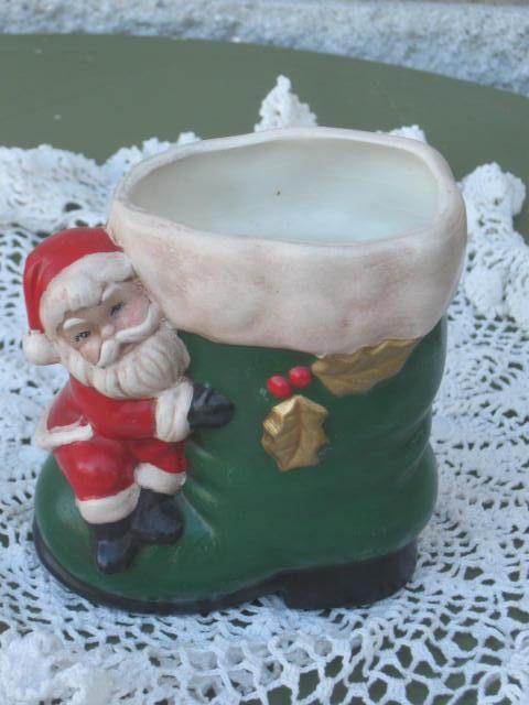 Santa S Boot Planter Green Boot Planter Etsy Green Boots Santa Boots Christmas Items