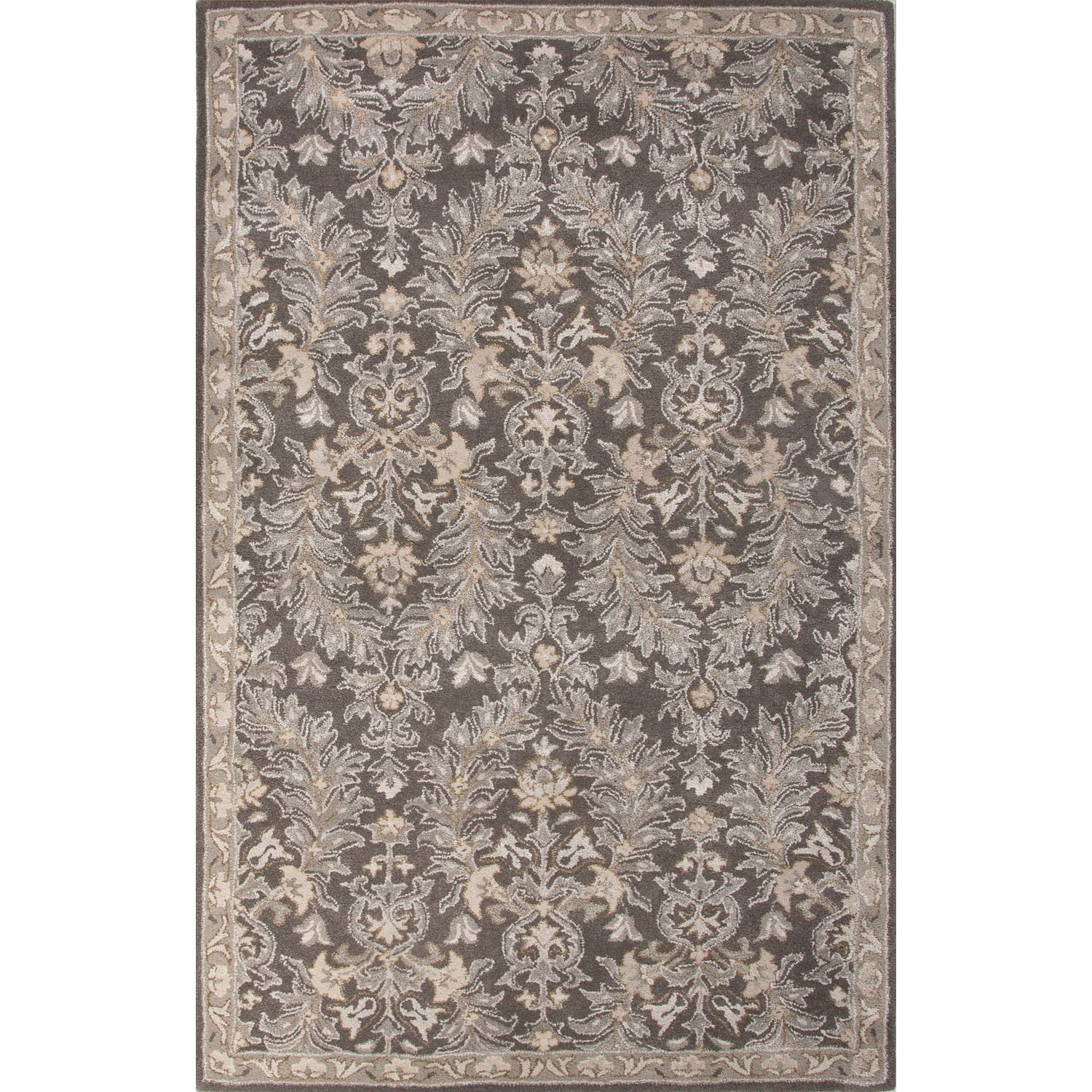Jaipur Clic Oriental Pattern Brown Ivory Wool And Art Silk Area Rug 5