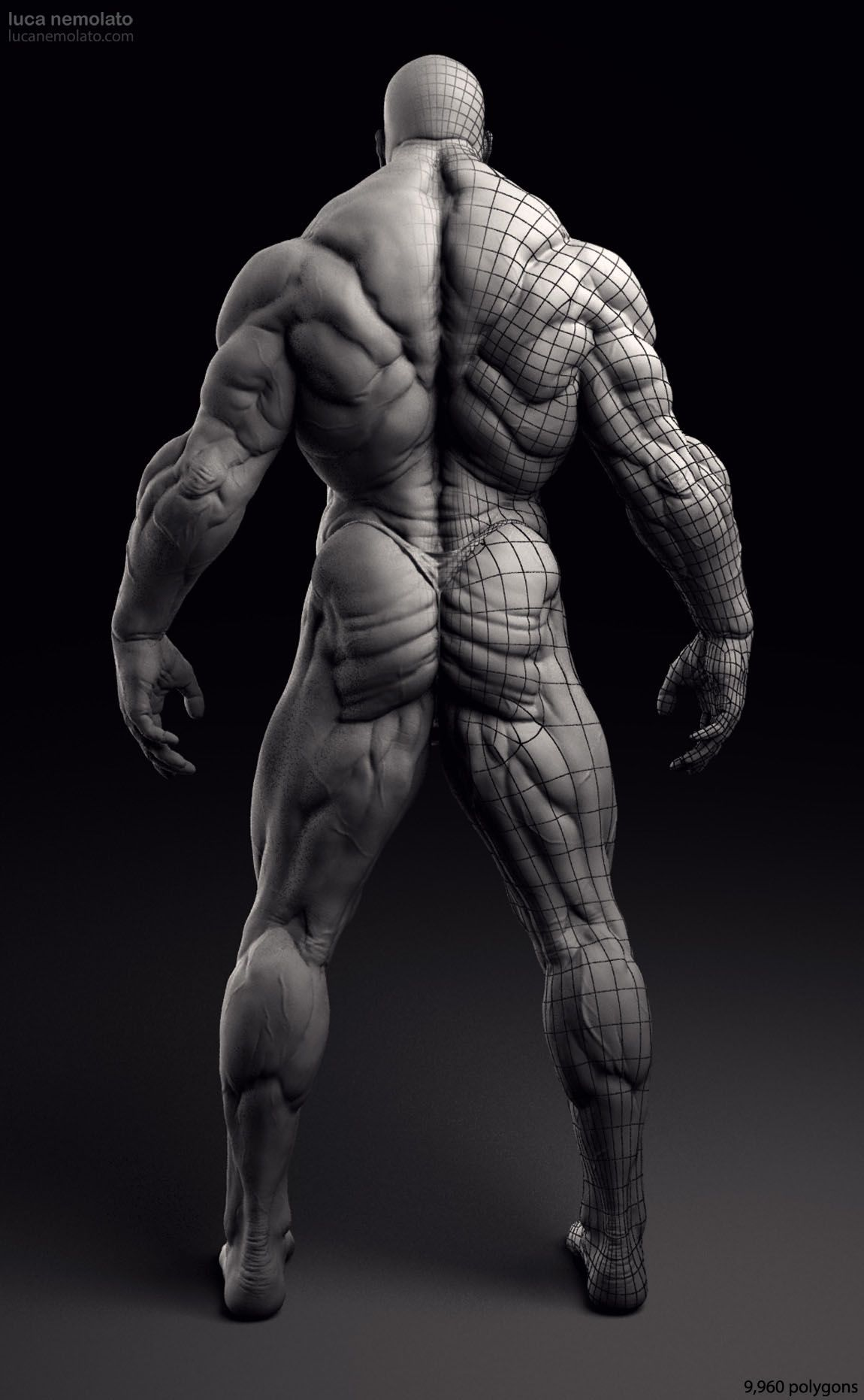 Extreme Bodybuilder 3D Model 1 personal projectjpg 1150