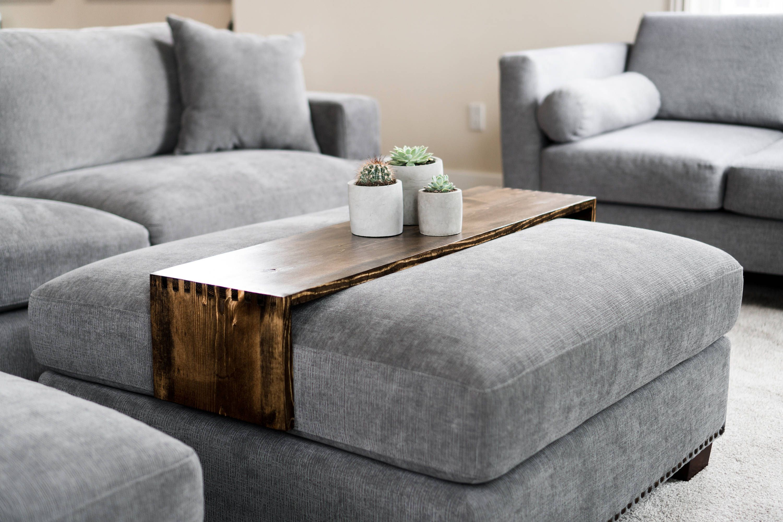 Wood Ottoman Tray Table Custom Wood Table Wood Tray