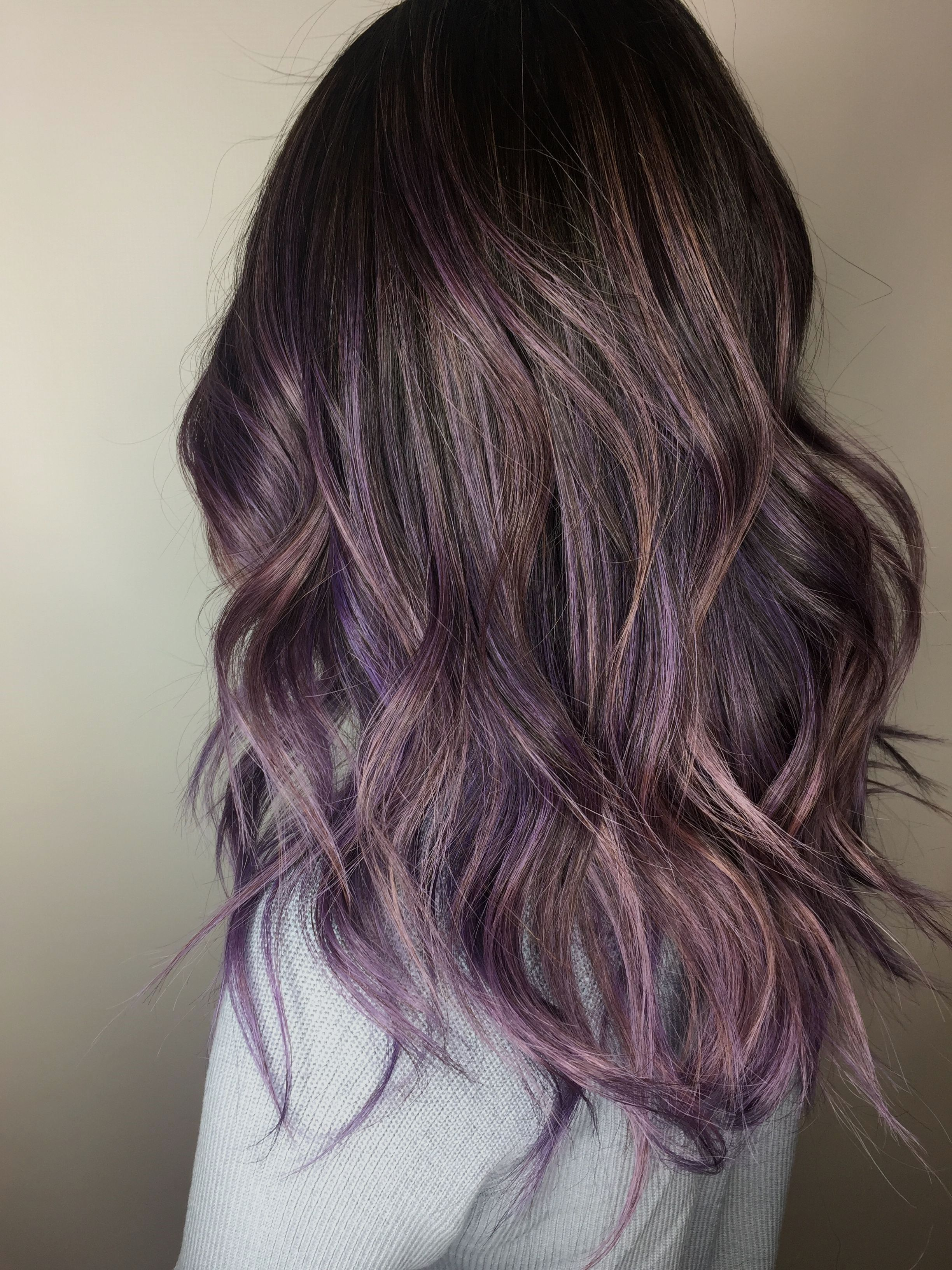 Pin By Farra Adriana On Hair Hair Styles Purple Hair Balayage Hair