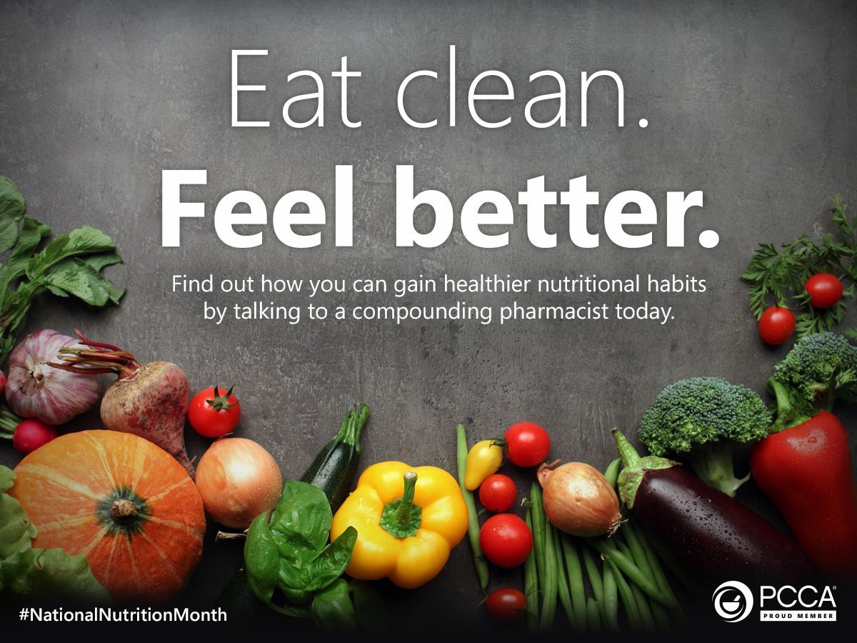 #eatclean, take your #supplements and #vitamins and feel better. Find out how you can gain healthier nutritional habits by talking to a #compounding #pharmacist today